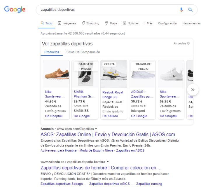 busqueda google ads