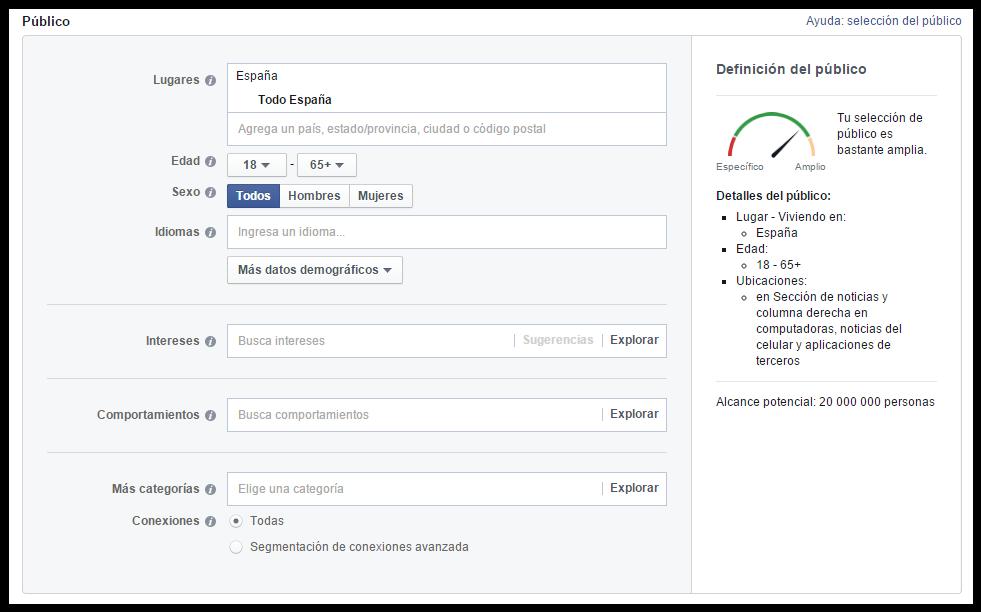 Segmentación Facebook