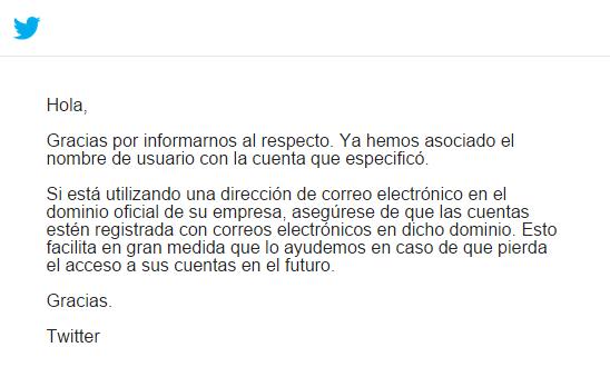 email exito reclamacion
