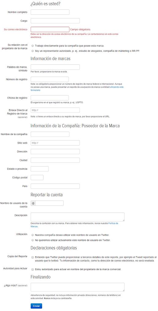 formulario reporte