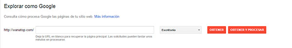 Enviar url a Search Console