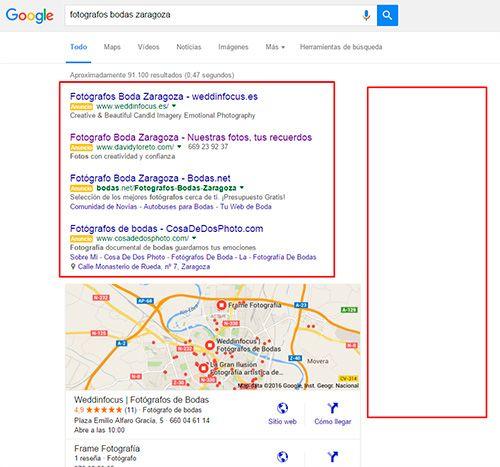 Cambios en los resultados de búsqueda de Google