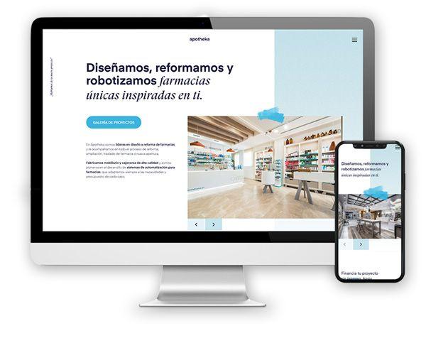 monitor apotheka Diseño Web