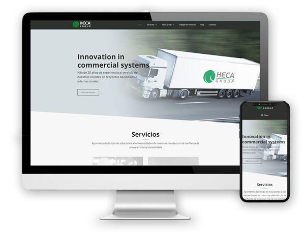 monitor hecagroup Diseño Web