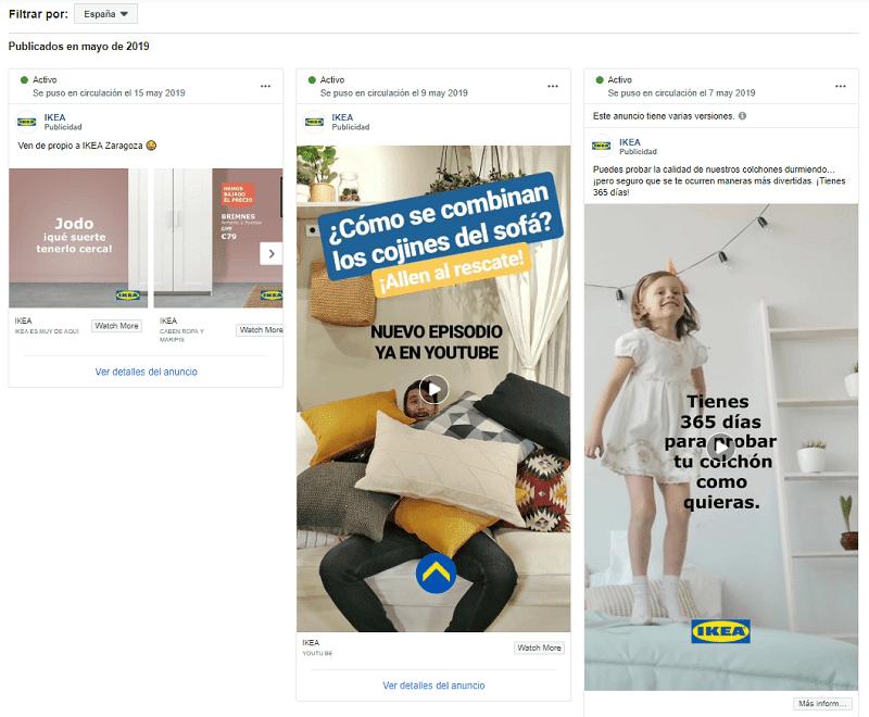 IKEA ANUNCIOS Cómo espiar a tu competencia en Facebook