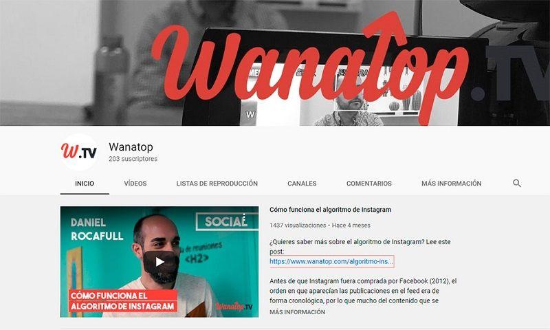 canal youtube wanatop