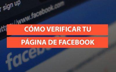 Cómo verificar una página de Facebook