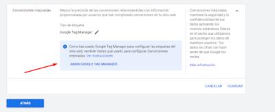 activacion gtm 2 Cómo configurar las conversiones mejoradas